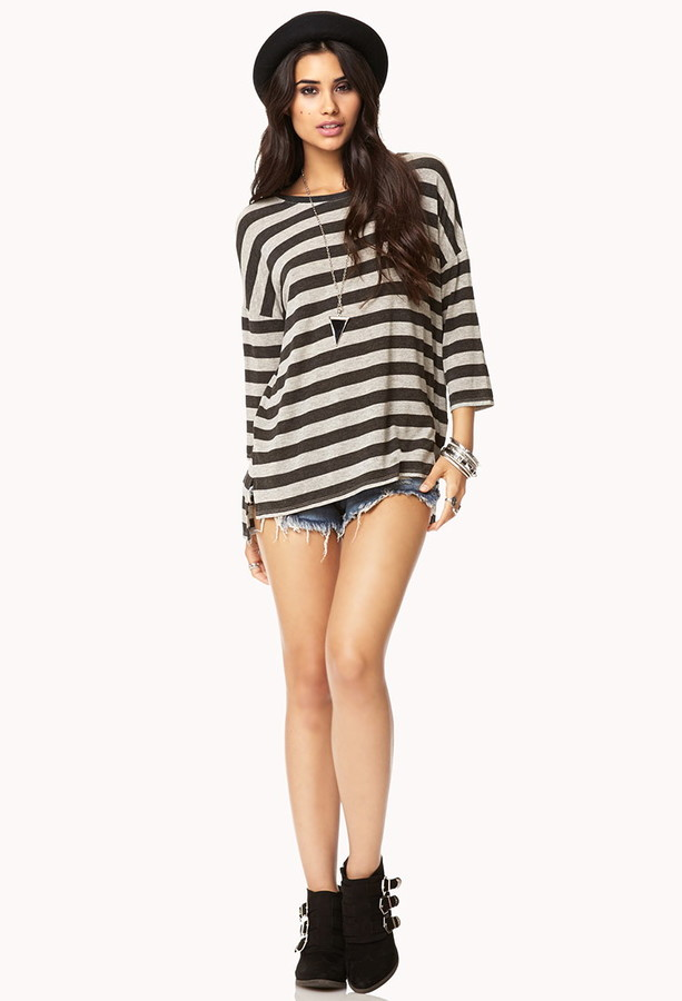 Forever 21 City Stripes Top
