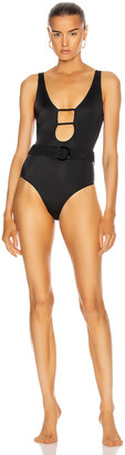 Solid & Striped The Beatrice with Braided Belt Swimsuit in Black | FWRD