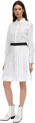 Karl Lagerfeld Paris Cotton Poplin Shirt Dress