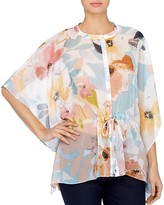Catherine Malandrino Komai Kimono-Sleeve Blouse
