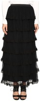 RED Valentino Silk Georgette with Tulle Skirt Women's Skirt