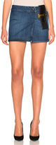 Anthony Vaccarello Leather Strap Combo Mini Skirt