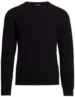 Giorgio Armani Tonal Pattern Sweater
