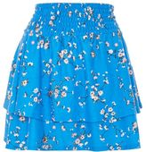 Topshop Shirred tier ditsy mini skirt