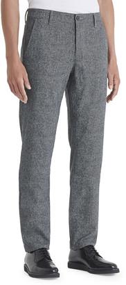 AG Adriano Goldschmied Men's Marshall Herringbone Straight-Leg Pants