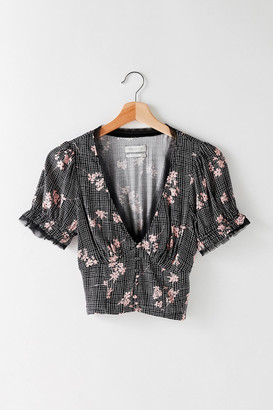 Urban Outfitters Hazel Button-Up Blouse
