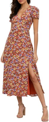 Yumi Kim Into You Floral V-Neck Maxi Dress