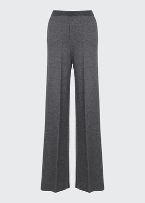 Loro Piana Park Avenue Silk-Cashmere Pants