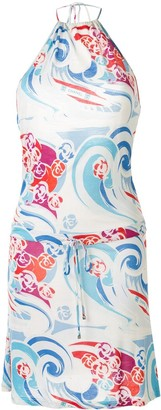 Chanel Pre Owned 2006 Sports Line wave print dress