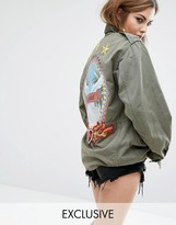 Reclaimed Vintage X Romeo And Juliet Military Jacket With Back Patch