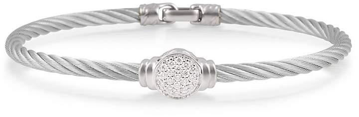 Alor Women's Noir Diamond, Stainless Steel and 18K Gold Bracelet