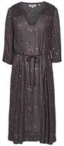 Fat Face Lorna Daisy Dot Midi Dress, Grey