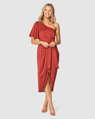 Pilgrim Women's Red Midi Dresses - Cam Midi Dress - Size One Size, 10 at The Iconic