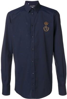 Dolce & Gabbana crowned crest logo shirt