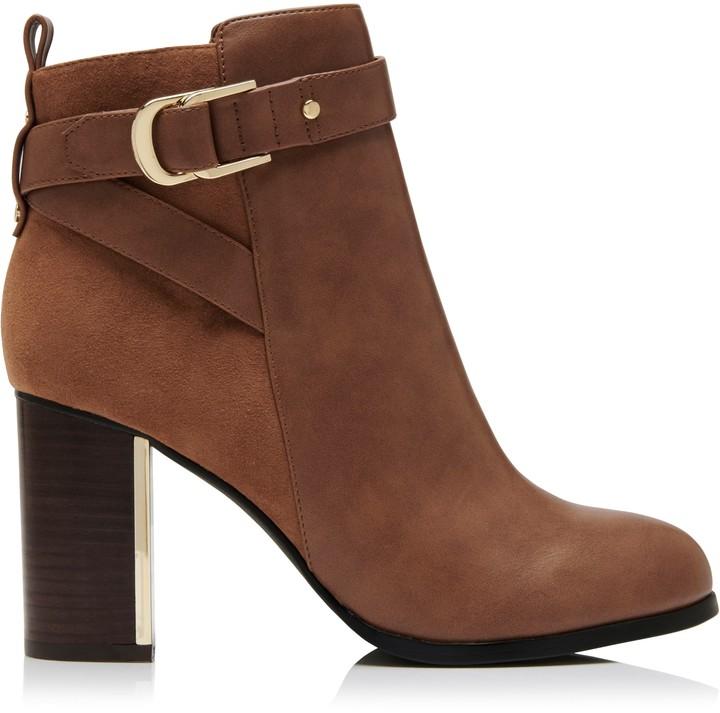 Forever New Bridget Block Heel Ankle Boots - Tan - 38