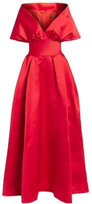 Zac Posen Off-The-Shoulder Duchess Satin Ball Gown