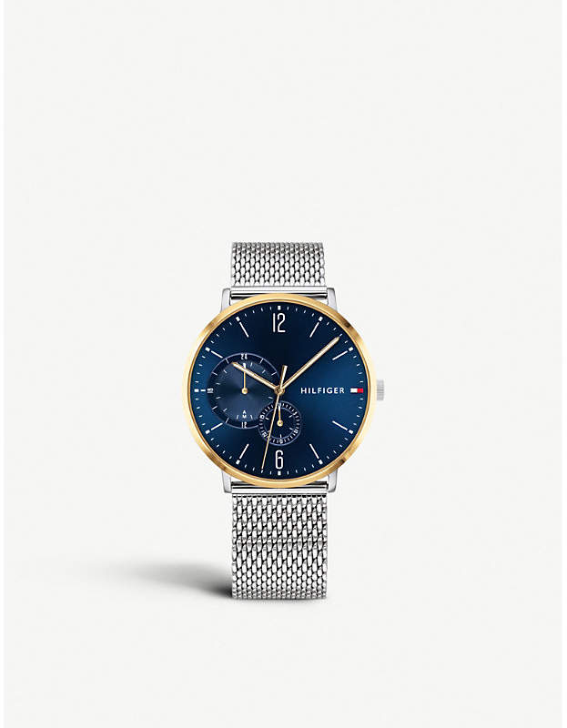 Tommy Hilfiger 1791505 Brooklyn stainless steel and gold plated chronograph watch