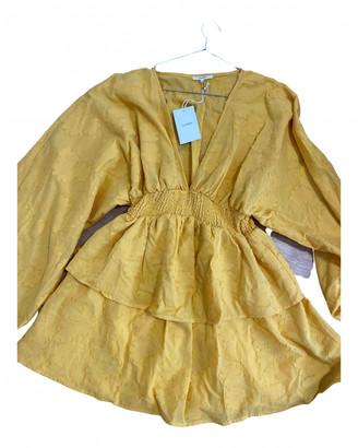 Tularosa Yellow Cotton Dress for Women