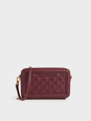 Charles & Keith Quilted Zip Around Long Wallet
