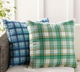 Pottery Barn Plaid Indoor/Outdoor Pillow