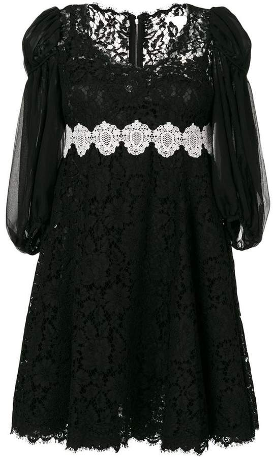 Dolce & Gabbana broderie anglaise lace dress