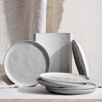 The White Company Portobello Grey Side Plate Set Of 6, Grey, One Size