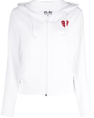 Comme des Garcons Cropped Overlapping Logo Hoodie