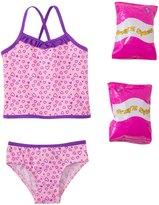 Jump N Splash Toddler Girls' Happy Heart TwoPiece Swimsuit w/ Free Floaties (2T-4T) - 8143019