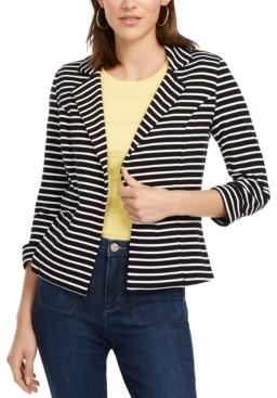 Maison Jules Striped Breton Blazer, Created for Macy's