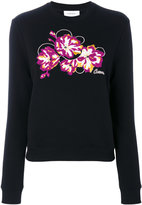 Carven embroidered flower sweatshirt - women - Cotton/Polyester - XS