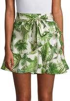 Lea & Viola Women's Tropical Tie Waist Skirt