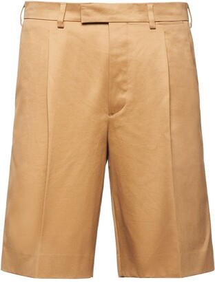 Prada pleated front Bermuda shorts