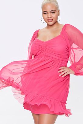 Forever 21 Plus Size Mesh Sweetheart Dress