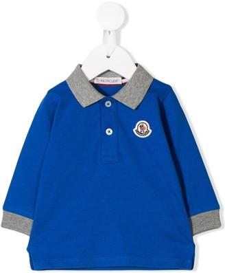 Moncler two-tone polo shirt