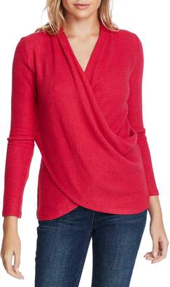 1 STATE 1.STATE Waffle Knit Cross Front Top