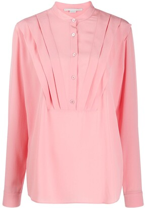 Stella McCartney Tuck-Detail Long-Sleeve Blouse