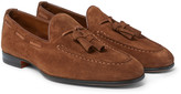 Santoni - Suede Tasselled Loafers