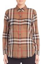 Burberry Abizt Check Cotton Shirt