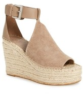 Marc Fisher Women's Annie Perforated Espadrille Platform Wedge
