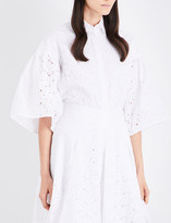 Co Broderie anglaise bell sleeve cotton blouse