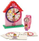 Lego Time Teacher Mini Figure, Watch, Activity Cards And Buildable Clock Set - PINK