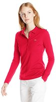 Lacoste Women's Long Sleeve Stretch Pique Polo