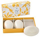 Caswell-Massey Bar Soap Set - Almond and Aloe Set of three 5.2oz bath bar