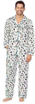 Bedhead Pajamas Organically Grown Cotton Elastane Long Sleeve Classic PJ Set (North Woods Retreat) Men's Pajama Sets