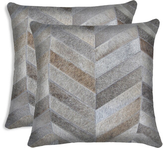 Lifestyle Brands Set Of 2 Torino Chevron Pillows