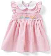 Edgehill Collection Baby Girls 3-9 Months Noah's Ark Ruffle-Sleeve Smocked Float Dress