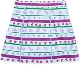 Oscar de la Renta Winter Melody Velvet Ric Rac A-Line Skirt