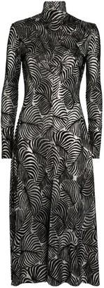 Paco Rabanne Metallic Devore Midi Dress