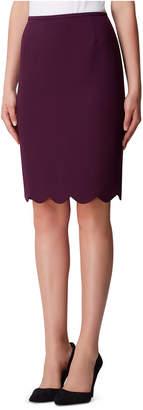 Tahari ASL Scalloped-Hem Pencil Skirt