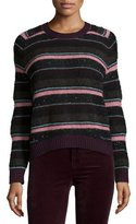 J Brand Ramona Striped Long-Sleeve Sweater, Multi Colors